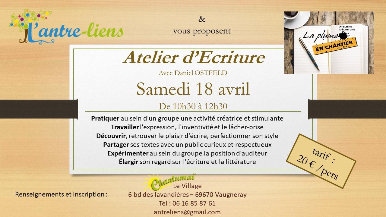 Affiche atelier 18-04-2020