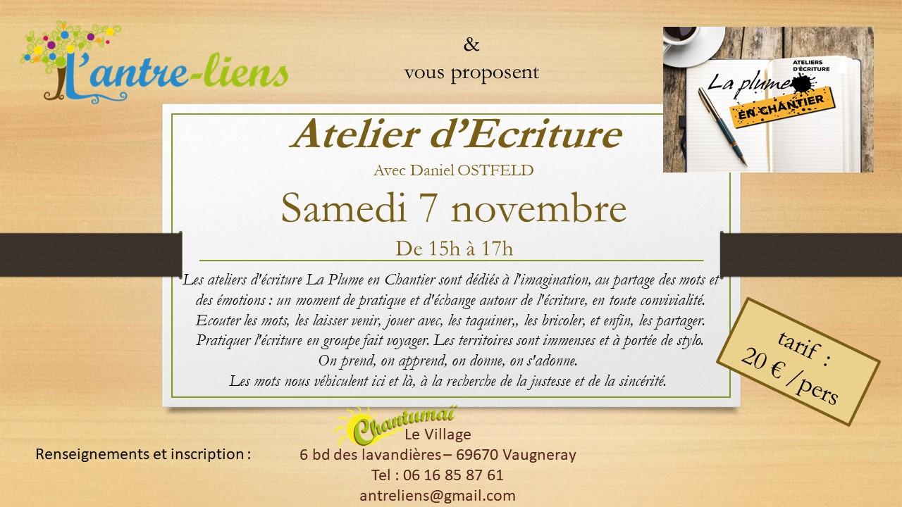 Affiche atelier 7-11-2020