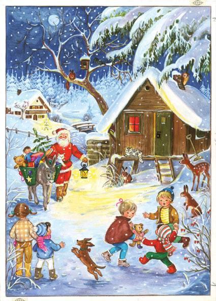 calendrier Oh! Le Père-Noël A4