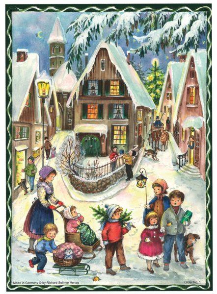 calendrier le village de Noël A4