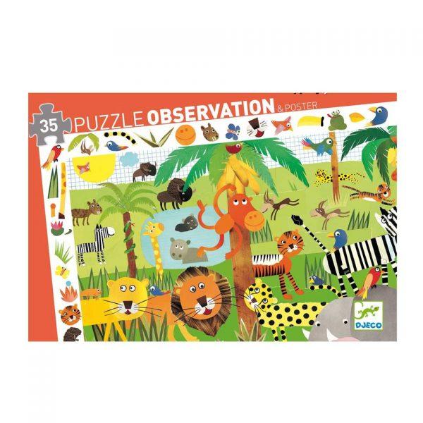 puzzle observation jungle 35 pièces
