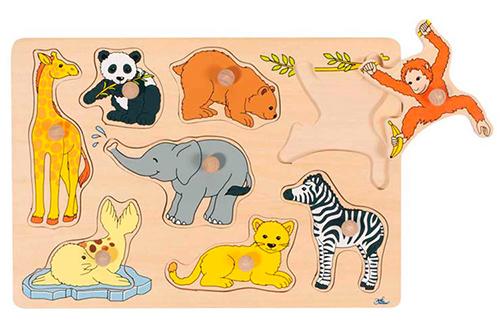 puzzle encastrement animaux sauvages
