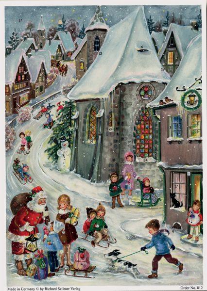 calendrier rencontre avec le Père-Noël