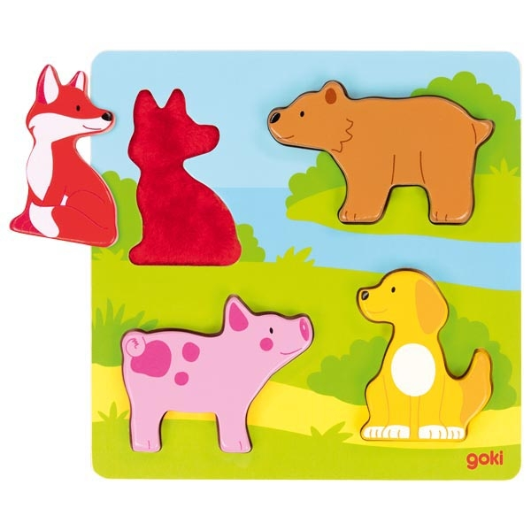 puzzle tactile animaux