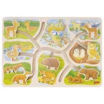 puzzle à coulisse bébés animaux