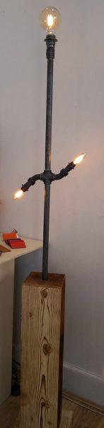 lampe vintage tuyaux