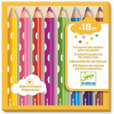 8 gros crayons de couleurs