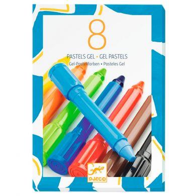 8 crayons gel classique