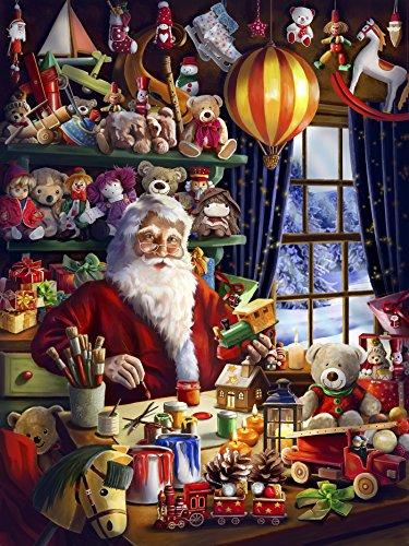 calendrier le Père-Noël au travail (grand format renforcé)