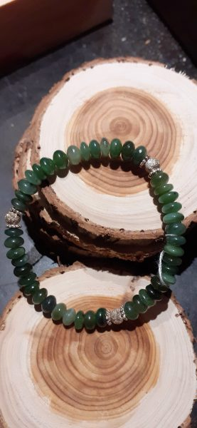 bracelet jade argent