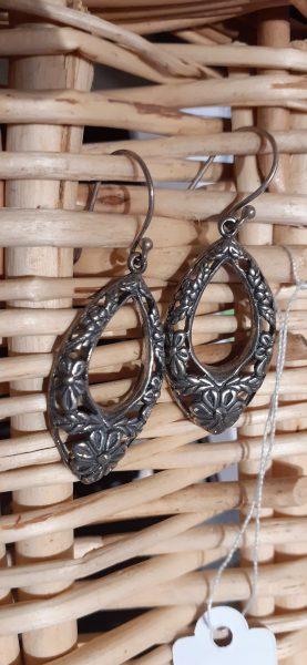 boucles d'oreille ovales argent