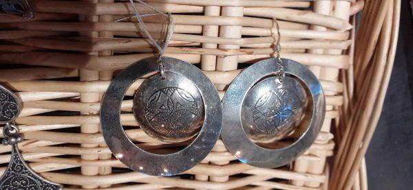 boucles d'oreille double cercle argent
