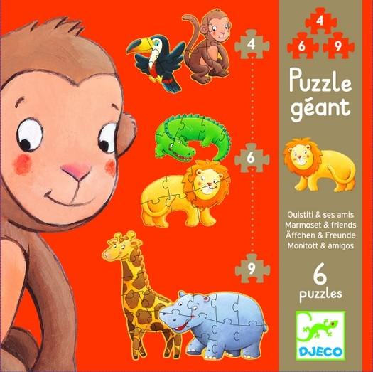 puzzles géants Ouistiti 4-6-9 pièces