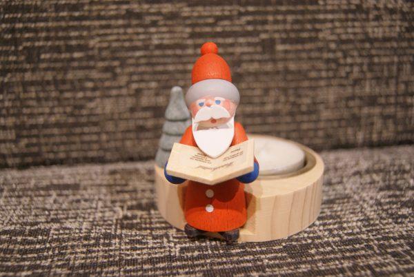 bougeoir Père-Noël et son grand livre