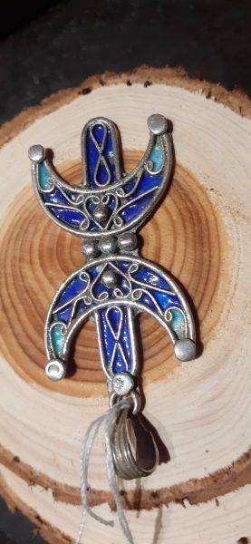 pendentif berbere bleu