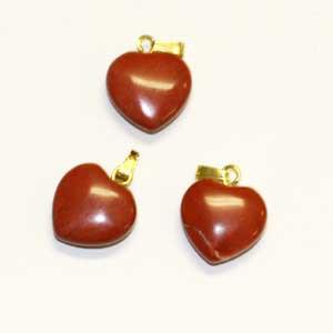 coeur jaspe rouge