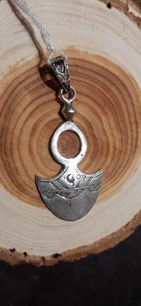 pendentif couteau rond argent
