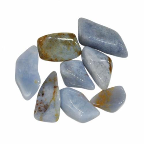 calcédoine bleue pierre roulée