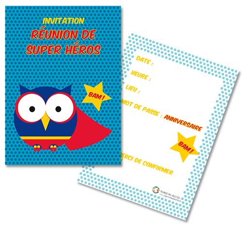 cartes invitation d'anniversaire