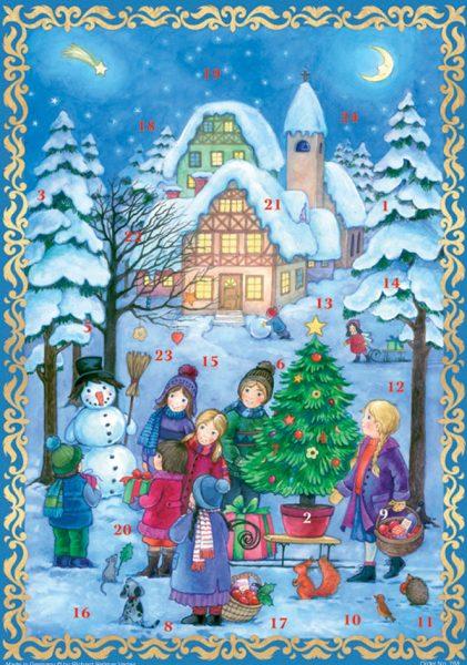 calendrier le bonhomme de neige A4