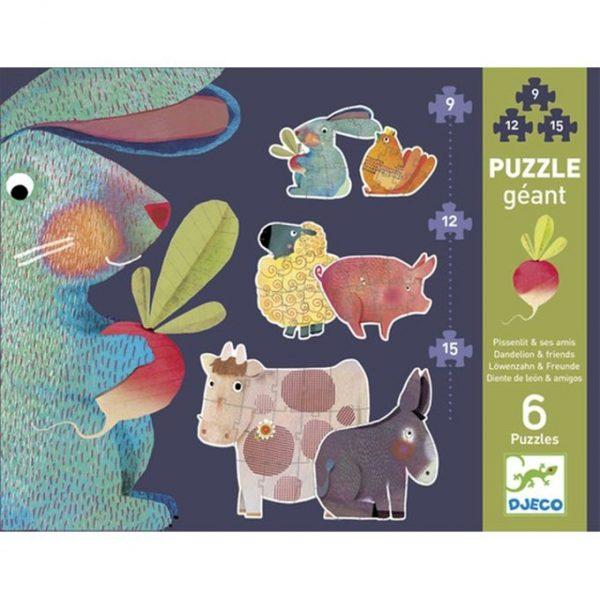 puzzles géants Pissenlits et ses amis