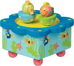 boîte à musique poissons