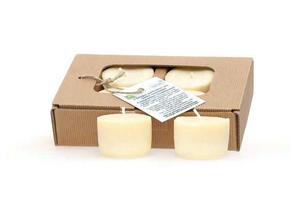4 bougies aux huiles essentielles bio