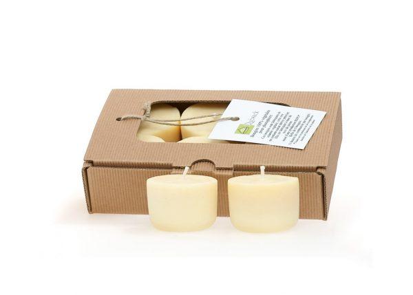 6 bougies votives en cire végétale
