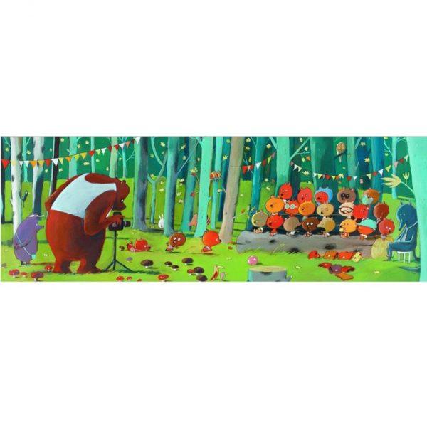 puzzle panoramique Forest Friends 100 pièces