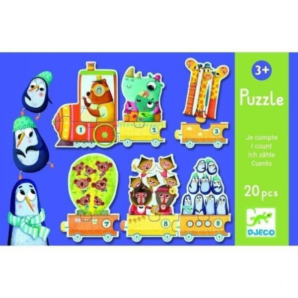 puzzle train je compte