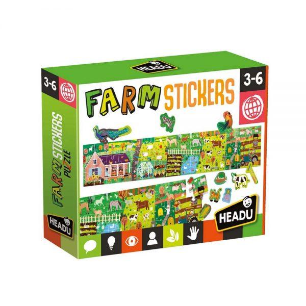puzzle ferme 45 pièces + 100 stickers repositionnables
