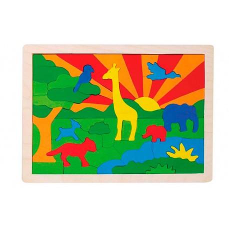 puzzle savane bois