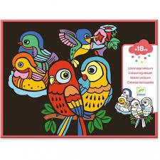 coloriages velours oiseaux