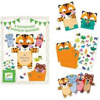 cartes invitation anniversaire animaux