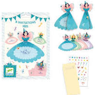cartes invitation anniversaire princesse