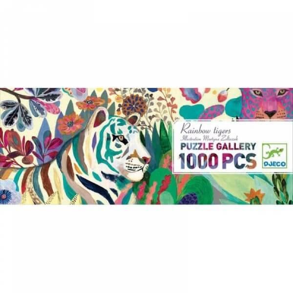 puzzle panoramique tigres 1000 pièces