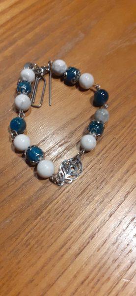 bracelet chaine apatite-howlite