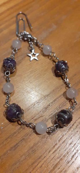 bracelet chaine quartz-amethyste