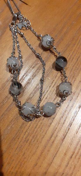 bracelet chaine quartz-tourmaline