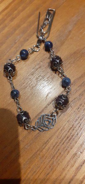 bracelet chaine sodalite – lepidolite
