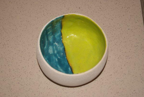 coupe duo bleu vert