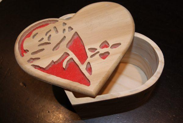 boîte coeur rose