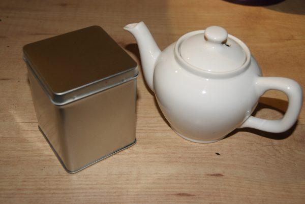 boîte à thé (vide)